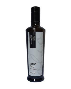 Bottiglia da 500 ml. di olio extra vergine di oliva bio di Peranzana
